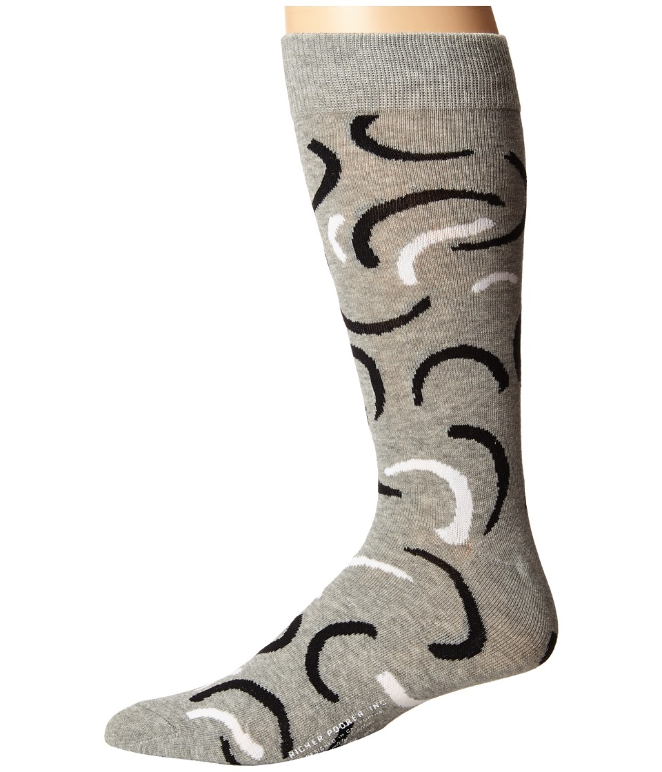 Richer Poorer - Hopper (Heather Grey) Men's Crew Cut Socks Shoes