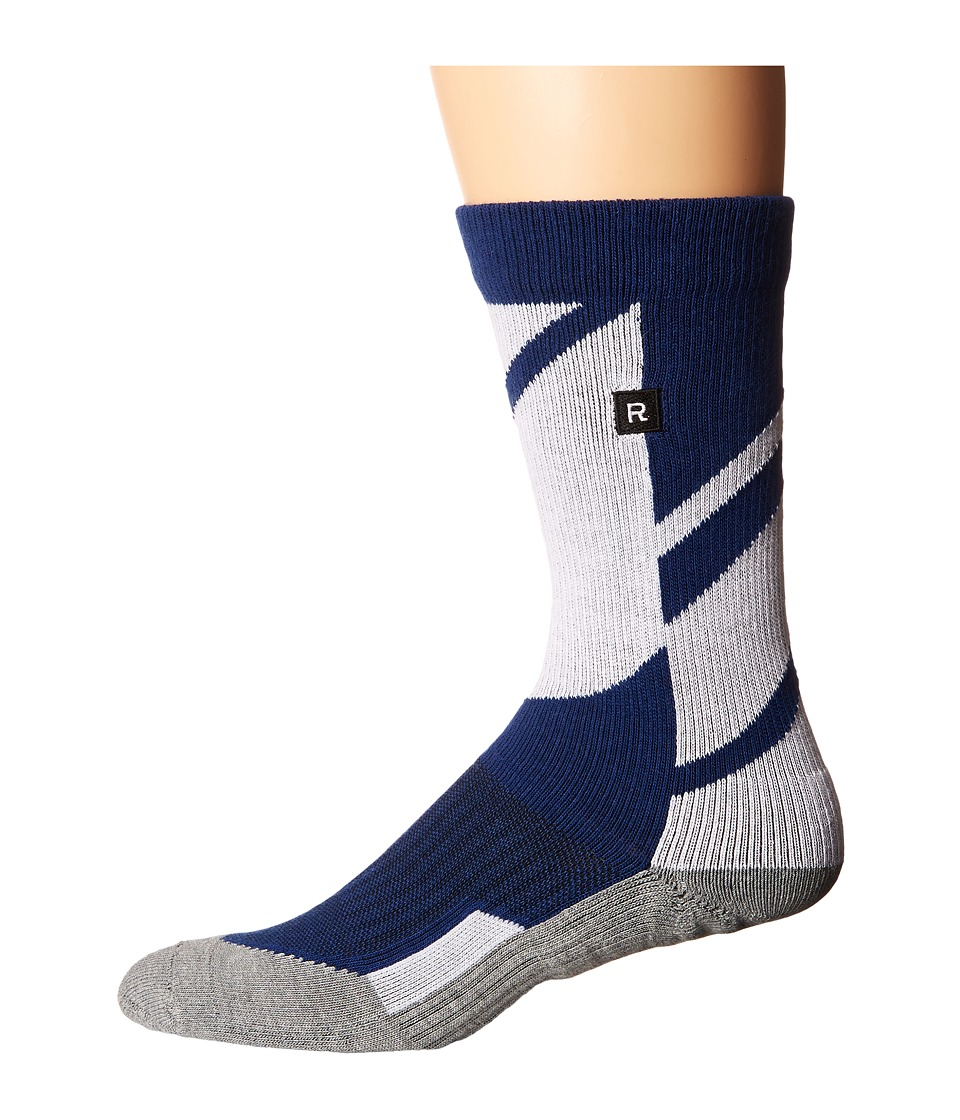 Richer Poorer - Airfoil Athletic (Navy) Men's Crew Cut Socks Shoes
