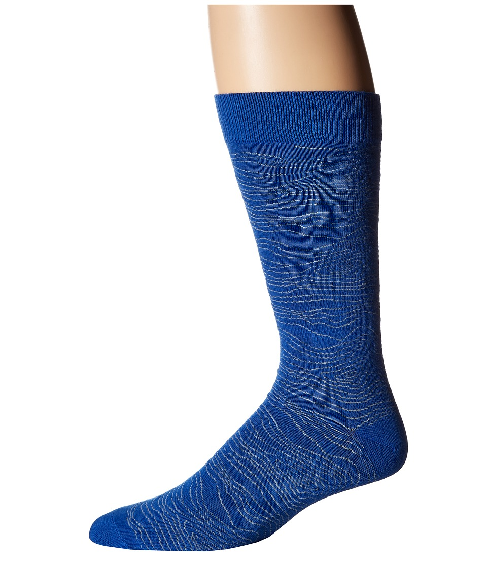 Richer Poorer - Onlooker (Blue) Men's Crew Cut Socks Shoes