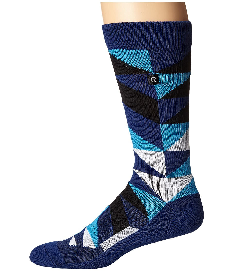 Richer Poorer - A Frame Athletic (Navy) Men's Crew Cut Socks Shoes