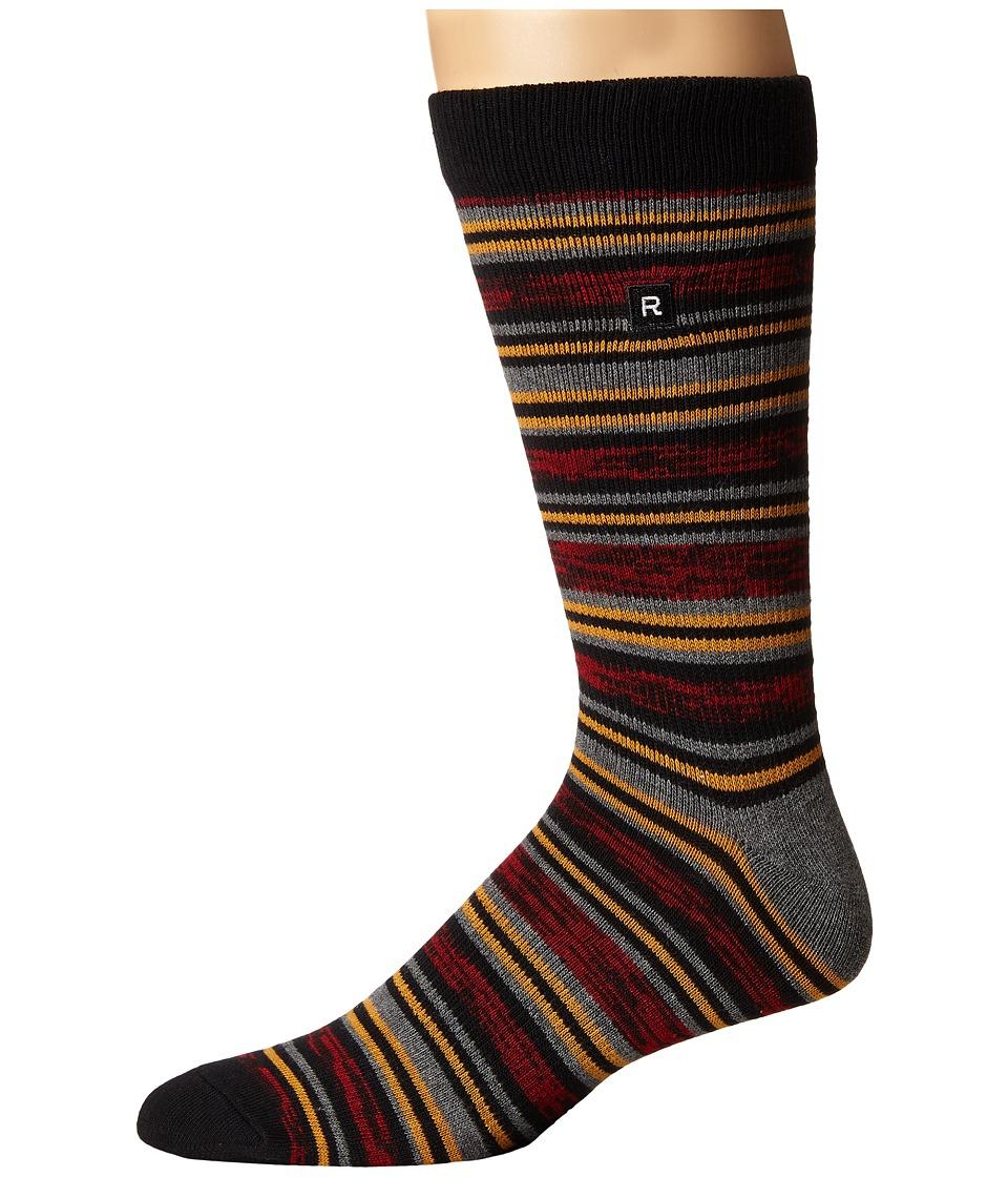 Richer Poorer - Morse Athletic (Red) Men's Crew Cut Socks Shoes