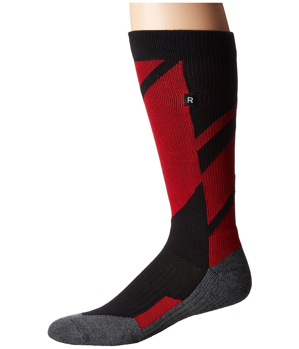 Richer Poorer - Airfoil Athletic (Red) Men's Crew Cut Socks Shoes