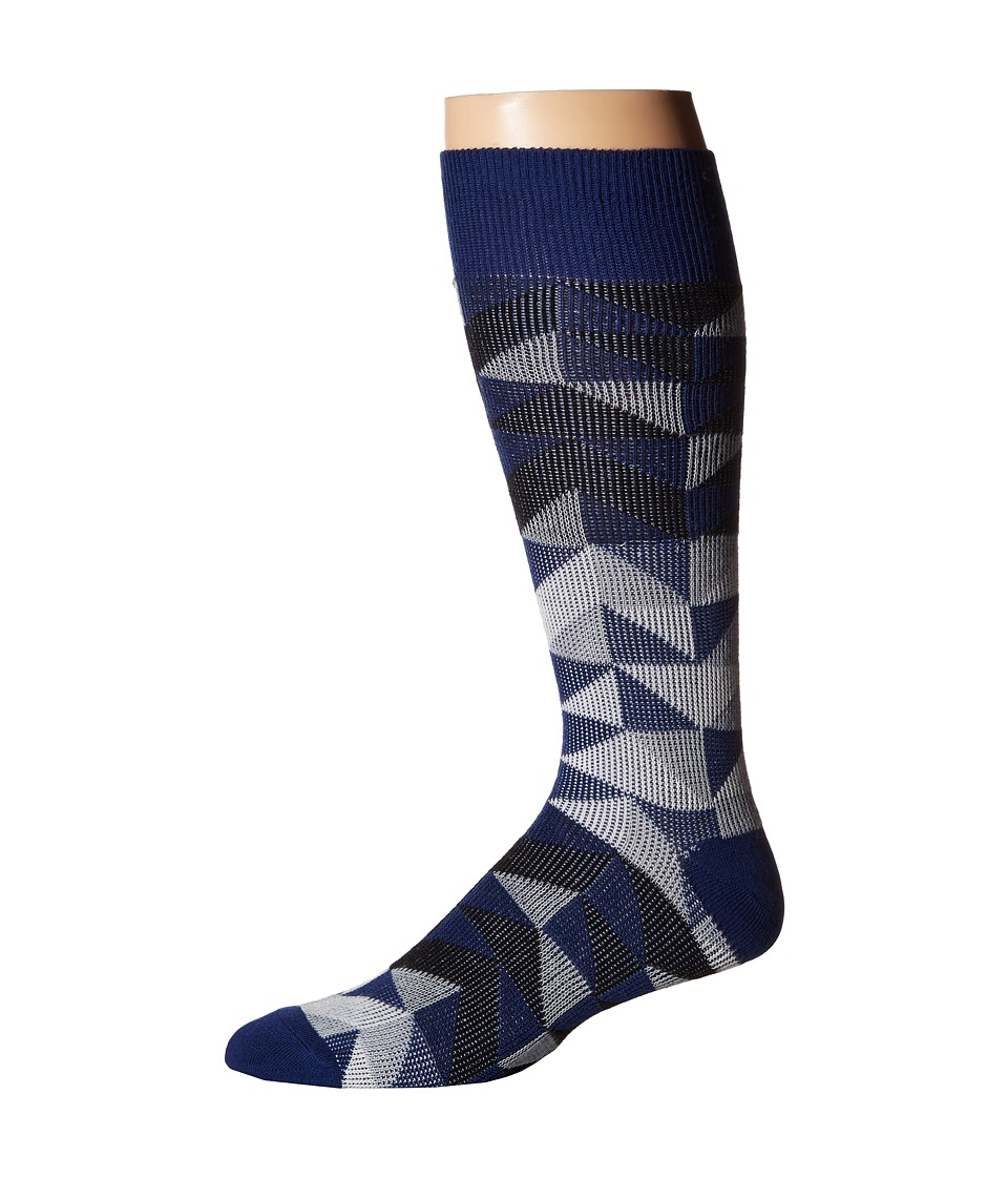 Richer Poorer - A Frame (Navy) Men's Crew Cut Socks Shoes