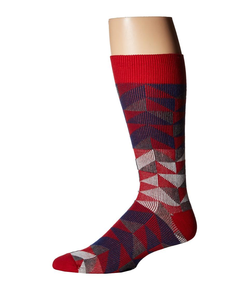 Richer Poorer - A Frame (Red) Men's Crew Cut Socks Shoes