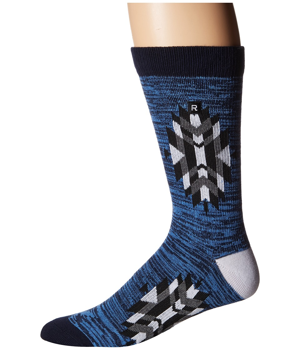 Richer Poorer - Trades Athletic (Navy) Men's Crew Cut Socks Shoes