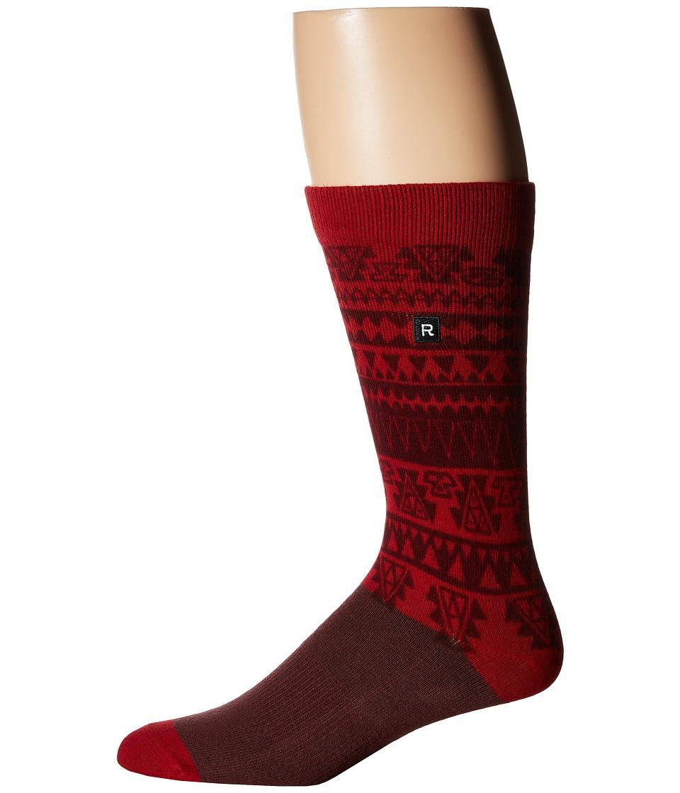 Richer Poorer - Steek Athletic (Red) Men's Crew Cut Socks Shoes