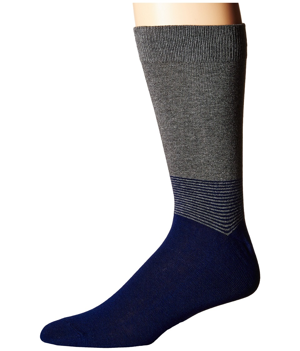 Richer Poorer - Horizon (Charcoal/Navy) Men's Crew Cut Socks Shoes
