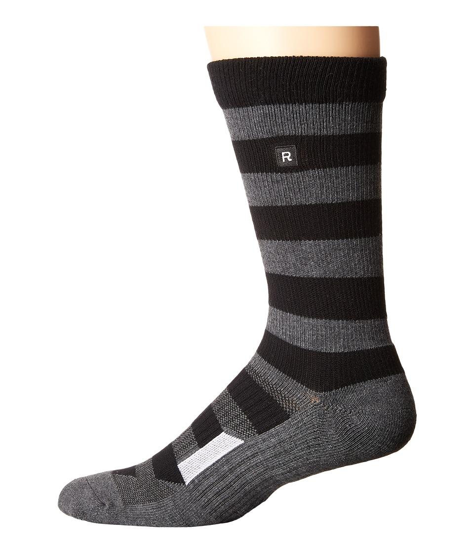 Richer Poorer - Walk On Athletic (Black/Charcoal) Men's Crew Cut Socks Shoes