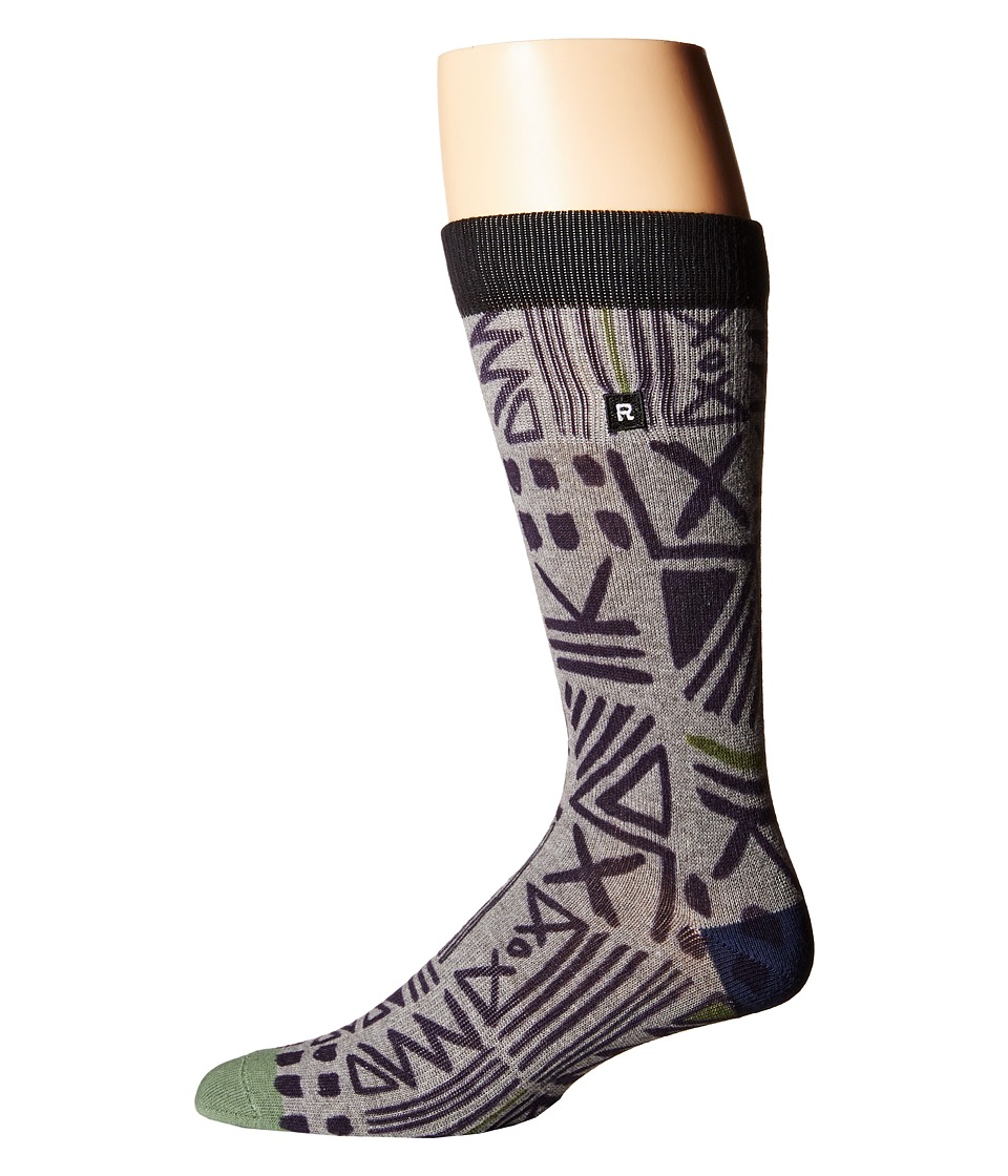 Richer Poorer - Cipher Athletic (Grey/White) Men's Crew Cut Socks Shoes