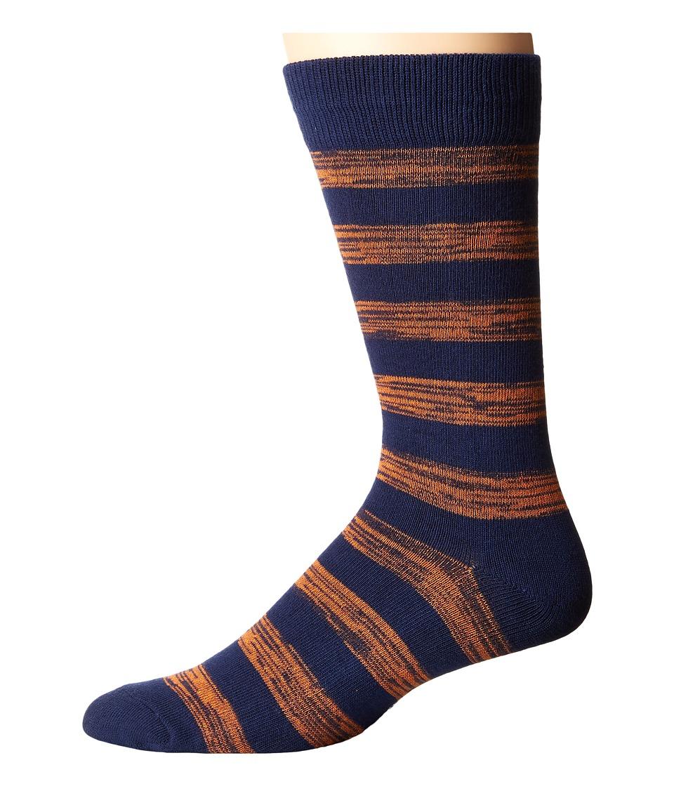 Richer Poorer - Walk On (Navy/Orange) Men's Crew Cut Socks Shoes