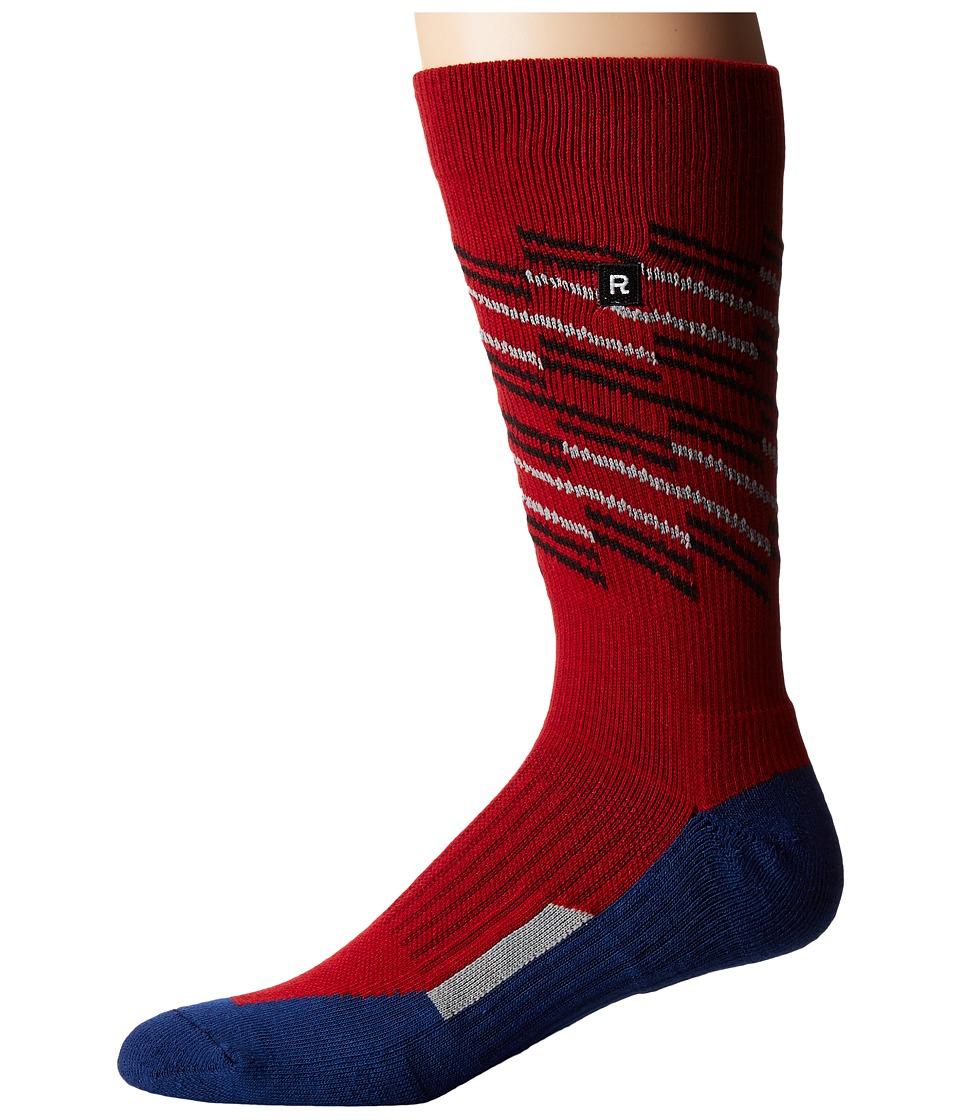 Richer Poorer - Sportif Athletic (Red) Men's Crew Cut Socks Shoes