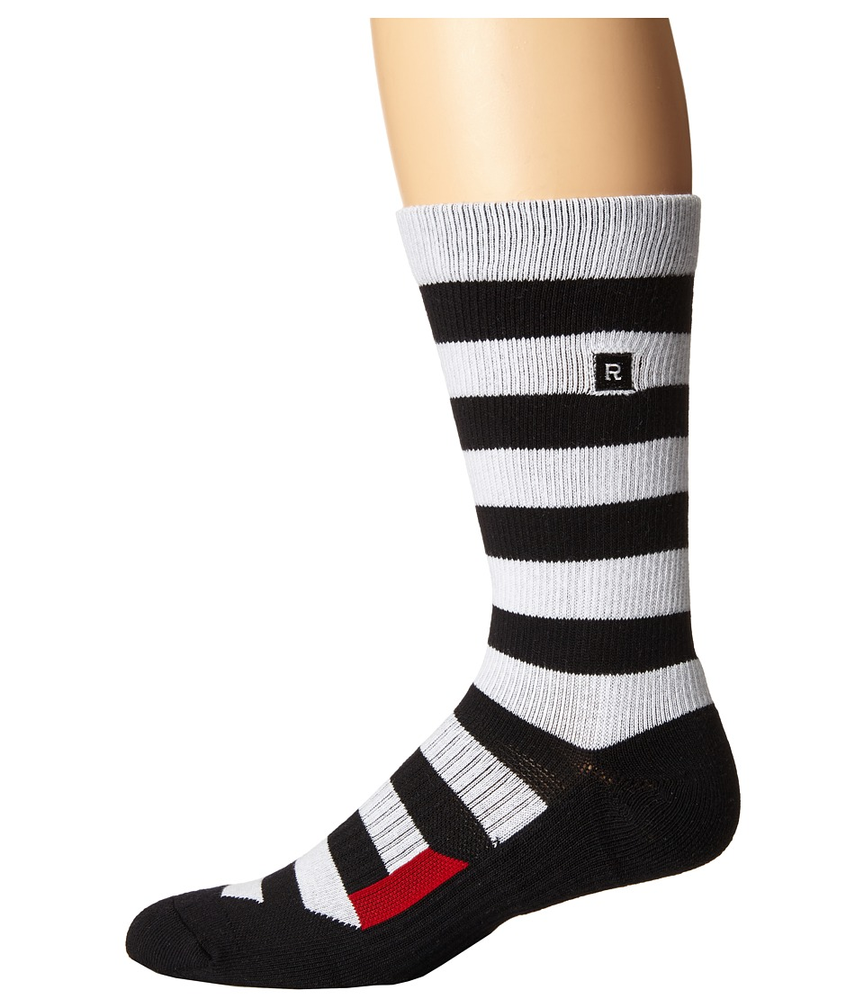 Richer Poorer - Walk On Athletic (White/Black) Men's Crew Cut Socks Shoes