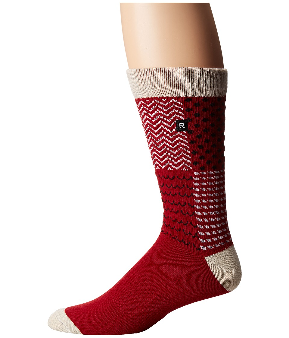 Richer Poorer - Outrigger Athletic (Red) Men's Crew Cut Socks Shoes
