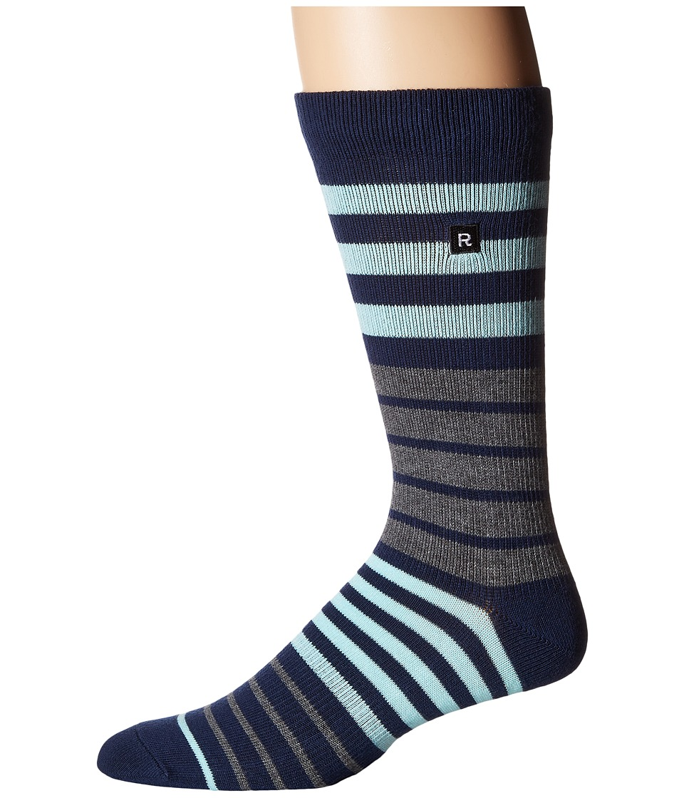 Richer Poorer - Kingston Athletic (Navy) Men's Crew Cut Socks Shoes