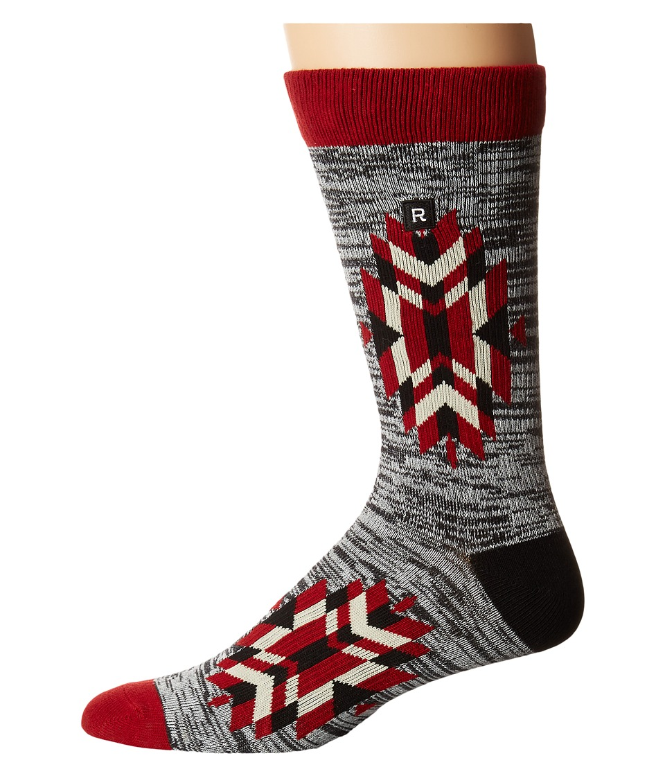Richer Poorer - Trades Athletic (Red) Men's Crew Cut Socks Shoes