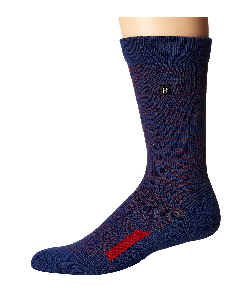 Richer Poorer - Onlooker Athletic (Navy) Men's Crew Cut Socks Shoes