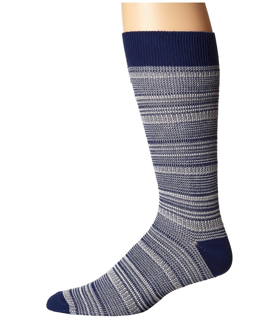 Richer Poorer - Mizzen (Blue) Men's Crew Cut Socks Shoes