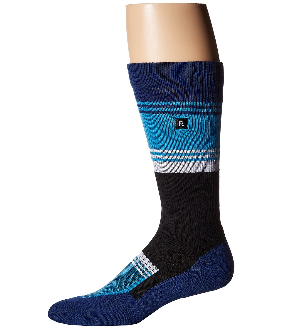Richer Poorer - Expressionist Athletic (Navy/Cyan) Men's Crew Cut Socks Shoes
