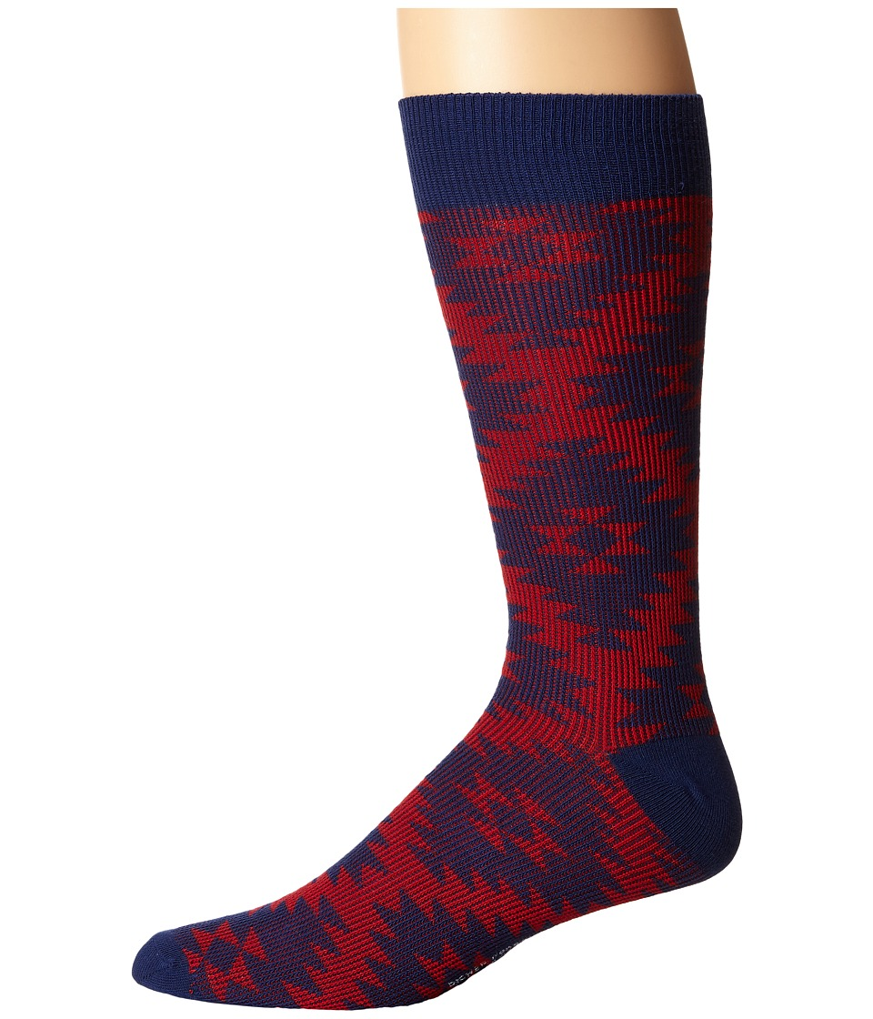 Richer Poorer - Treebones (Navy) Men's Crew Cut Socks Shoes