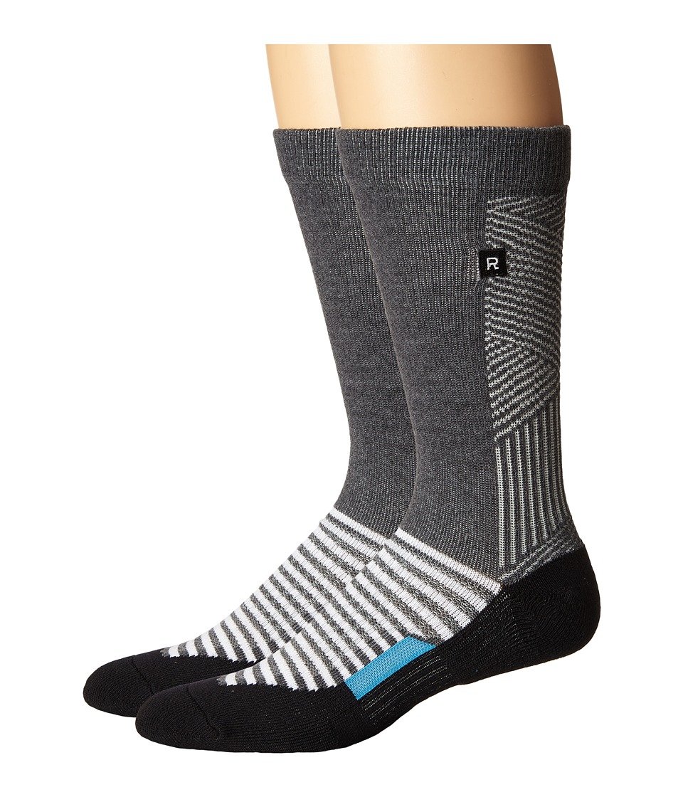 Richer Poorer - Deco Athletic (Charcoal) Men's Crew Cut Socks Shoes