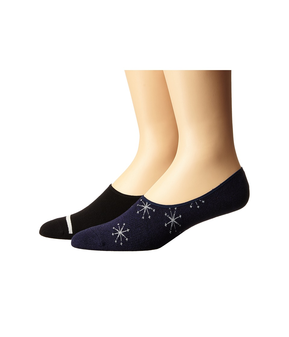 Richer Poorer - Starboard No Show 2-Pack (Navy) Men's No Show Socks Shoes