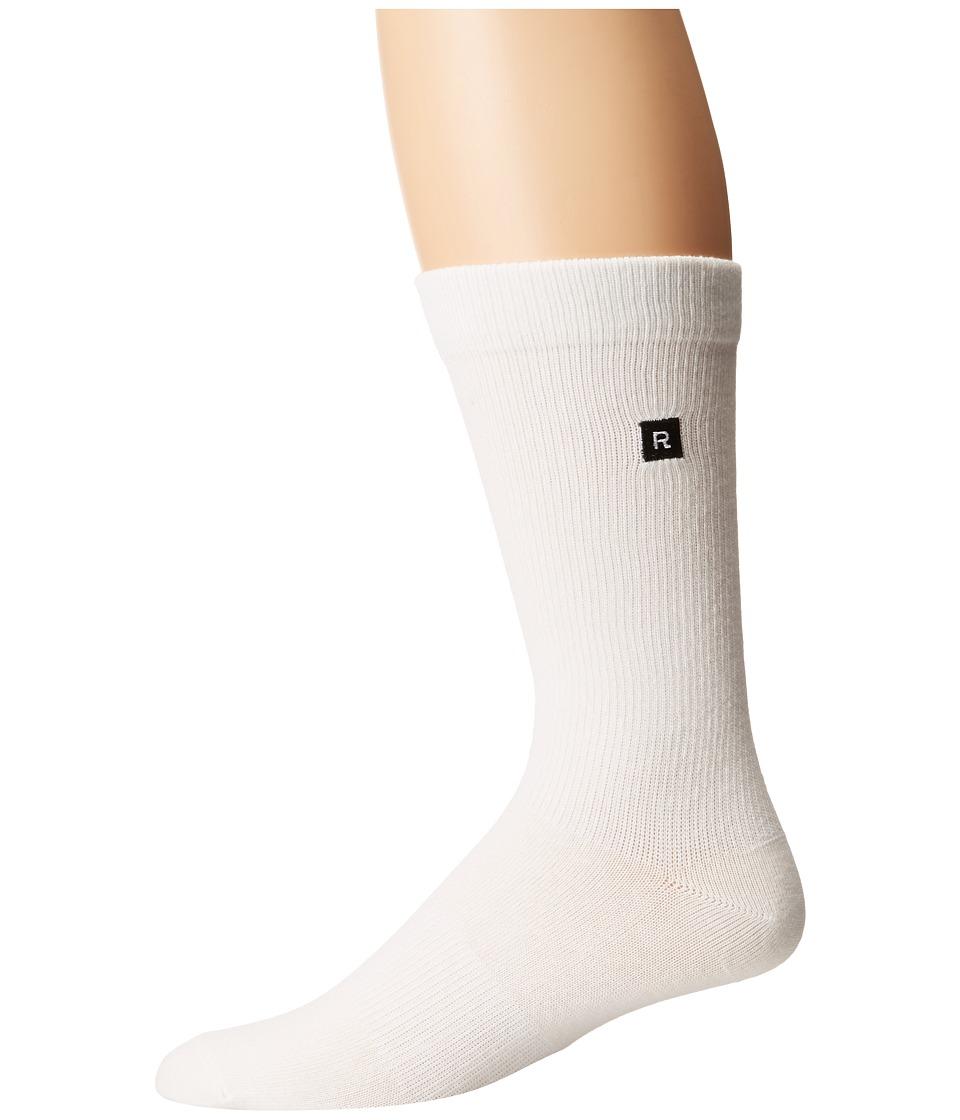 Richer Poorer - Base Basic 3-Pack Athletic (White) Men's Crew Cut Socks Shoes