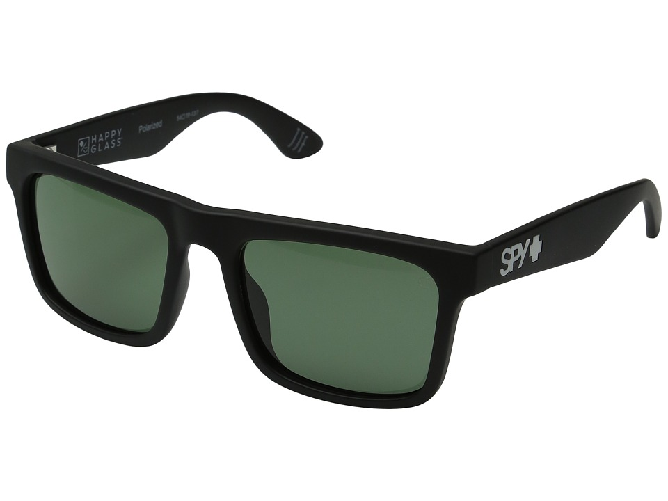 Spy Optic - Atlas (Soft Matte Black/Happy Glass Gray Green Polar) Athletic Performance Sport Sunglasses