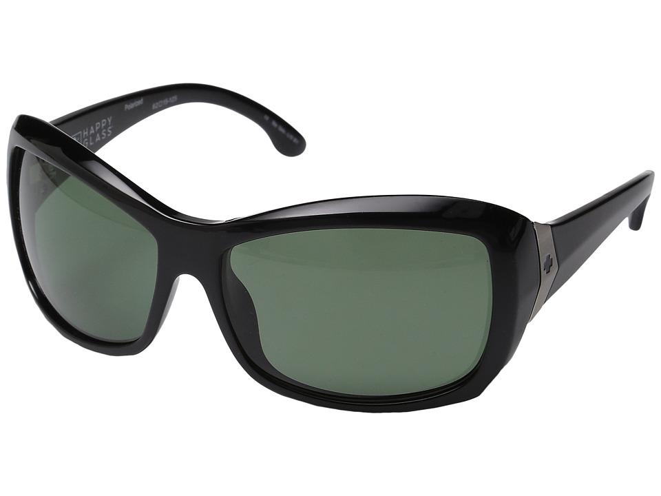 Spy Optic - Farrah (Black/Happy Glass Gray Green Polar) Fashion Sunglasses