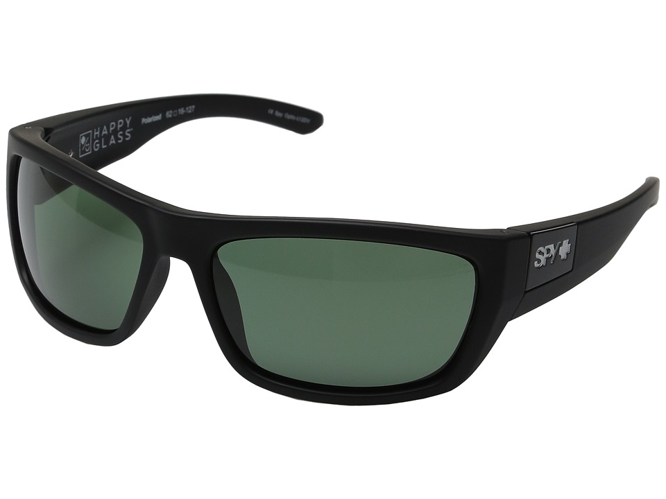 Spy Optic - Dega (Soft Matte Black/Happy Glass Gray Green Polar) Athletic Performance Sport Sunglasses