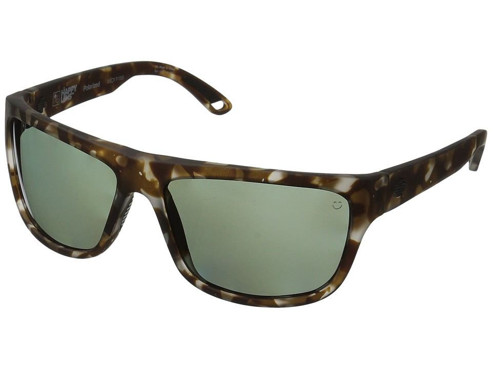 Spy Optic - Angler (Soft Matte Smoke Tort/Happy Gray Green Polar) Fashion Sunglasses