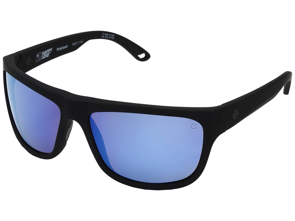 Spy Optic - Angler (Soft Matte Black/Happy Bronze Polar w/ Dark Blue Spectra) Fashion Sunglasses