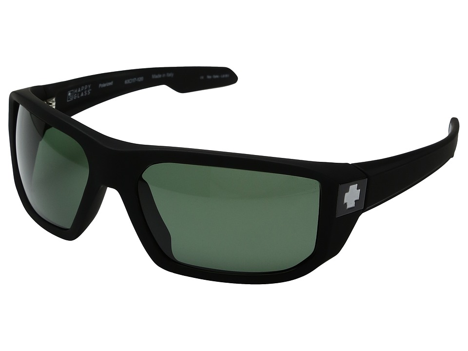 Spy Optic - McCoy (Soft Matte Black/Happy Glass Gray Green Polar) Sport Sunglasses