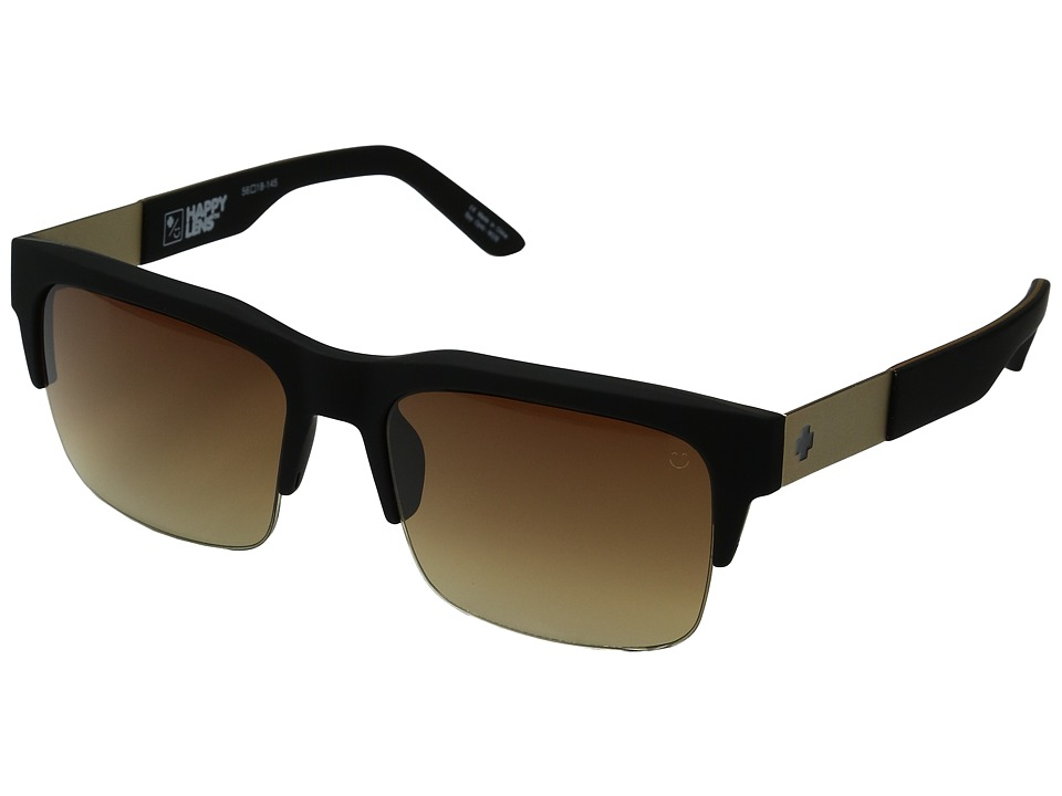 Spy Optic - Malcolm (Soft Matte Black/Happy Bronze Fade) Fashion Sunglasses