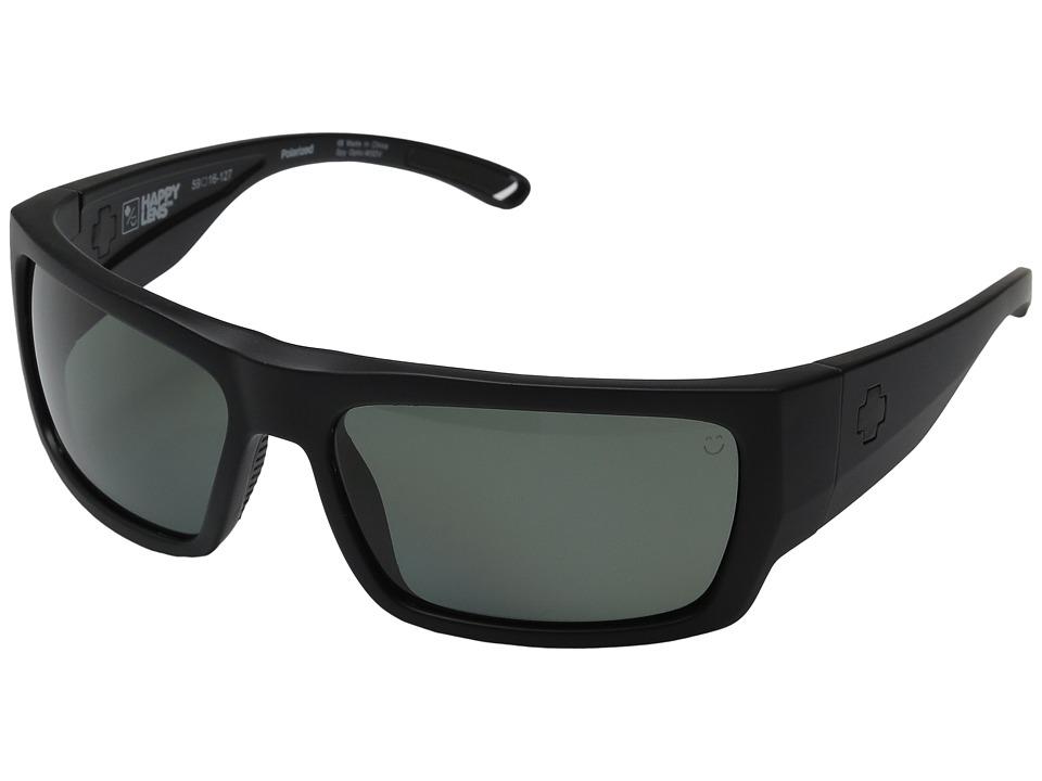 Spy Optic - Rover (Soft Matte Black/Happy Gray Green Polar) Fashion Sunglasses