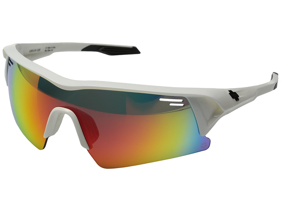 Spy Optic - Screw Over (White/Happy Bronze w/ Blue Spectra + Happy Lens Pack) Sport Sunglasses