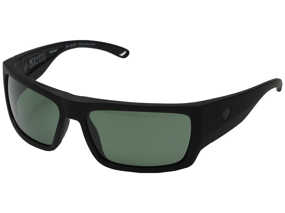 Spy Optic - Rover (Soft Matte Black/Happy Glass Gray Green Polar) Fashion Sunglasses