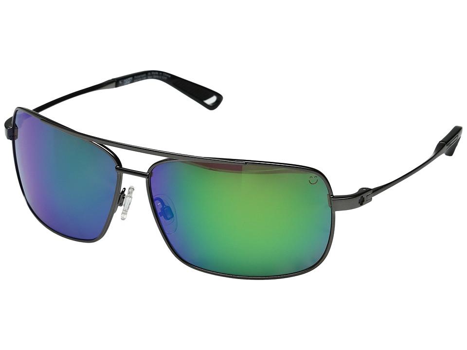 Spy Optic - Leo (Gunmetal/Happy Bronze Polar w/ Green Spectra) Fashion Sunglasses