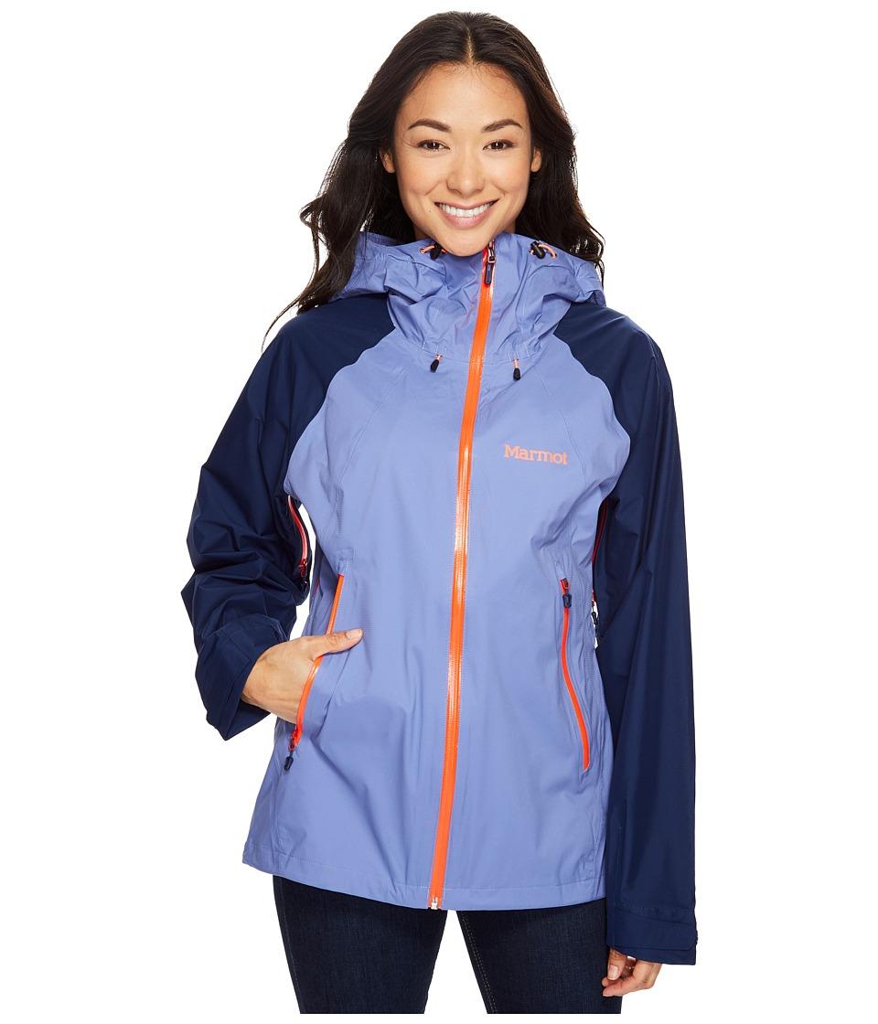 Marmot - Valor Jacket (Dusty Denim/Arctic Navy) Women's Coat