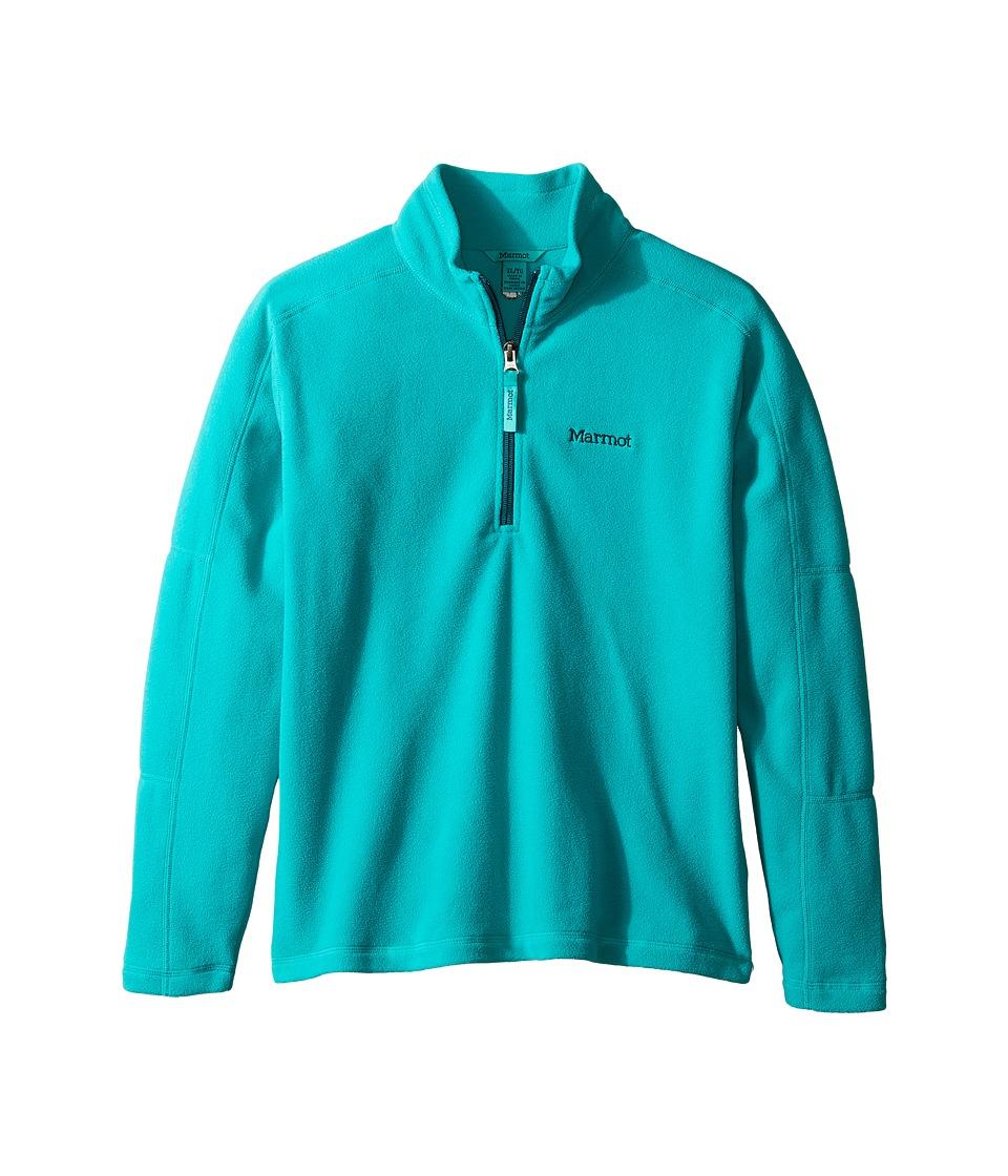 Marmot Kids - Boy's Rocklin 1/2 Zip (Little Kids/Big Kids) (Deep Jade) Boy's Sweatshirt