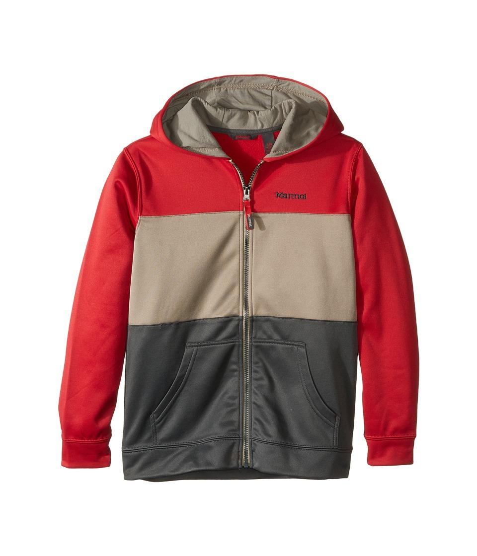 Marmot Kids - Rincon Hoodie (Little Kids/Big Kids) (Team Red/Dark Zinc) Boy's Sweatshirt