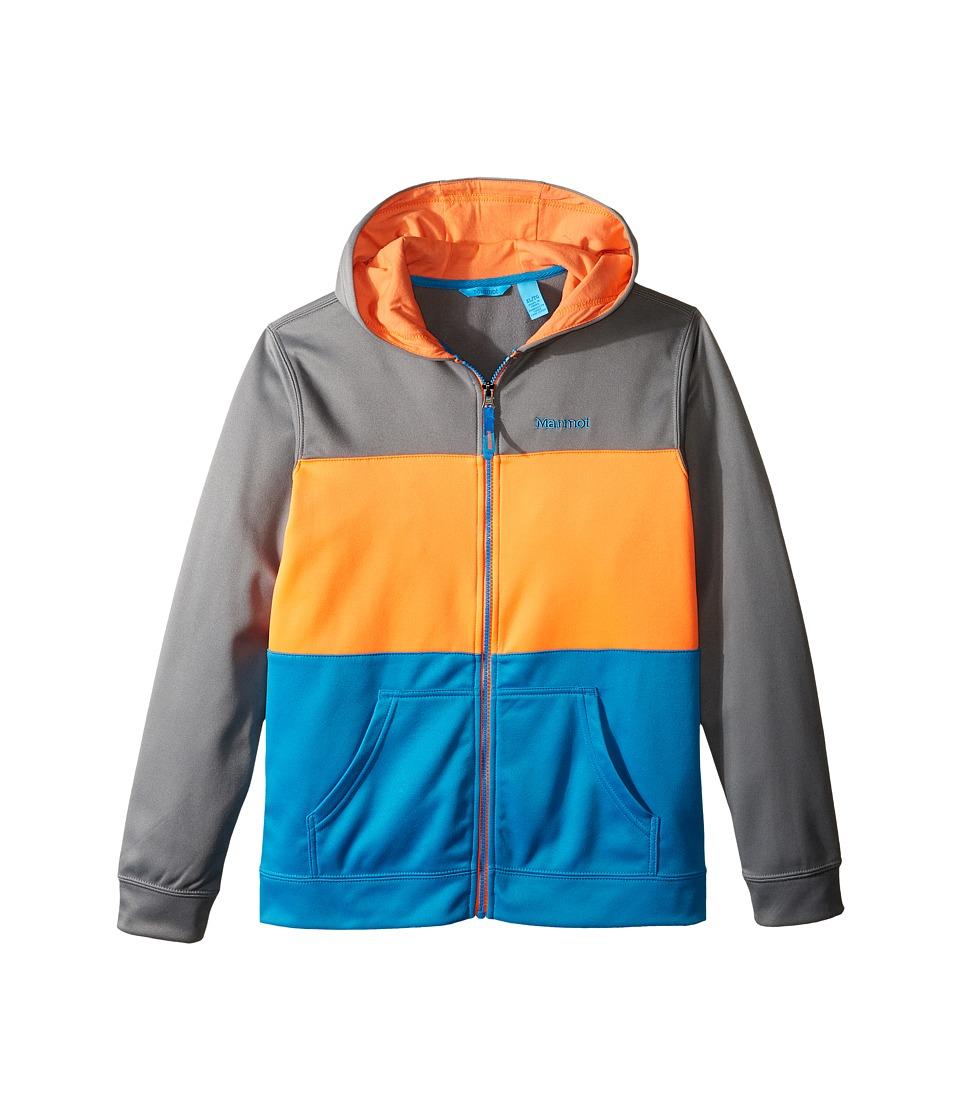 Marmot Kids - Rincon Hoodie (Little Kids/Big Kids) (Grey Storm/Mykonos Blue) Boy's Sweatshirt