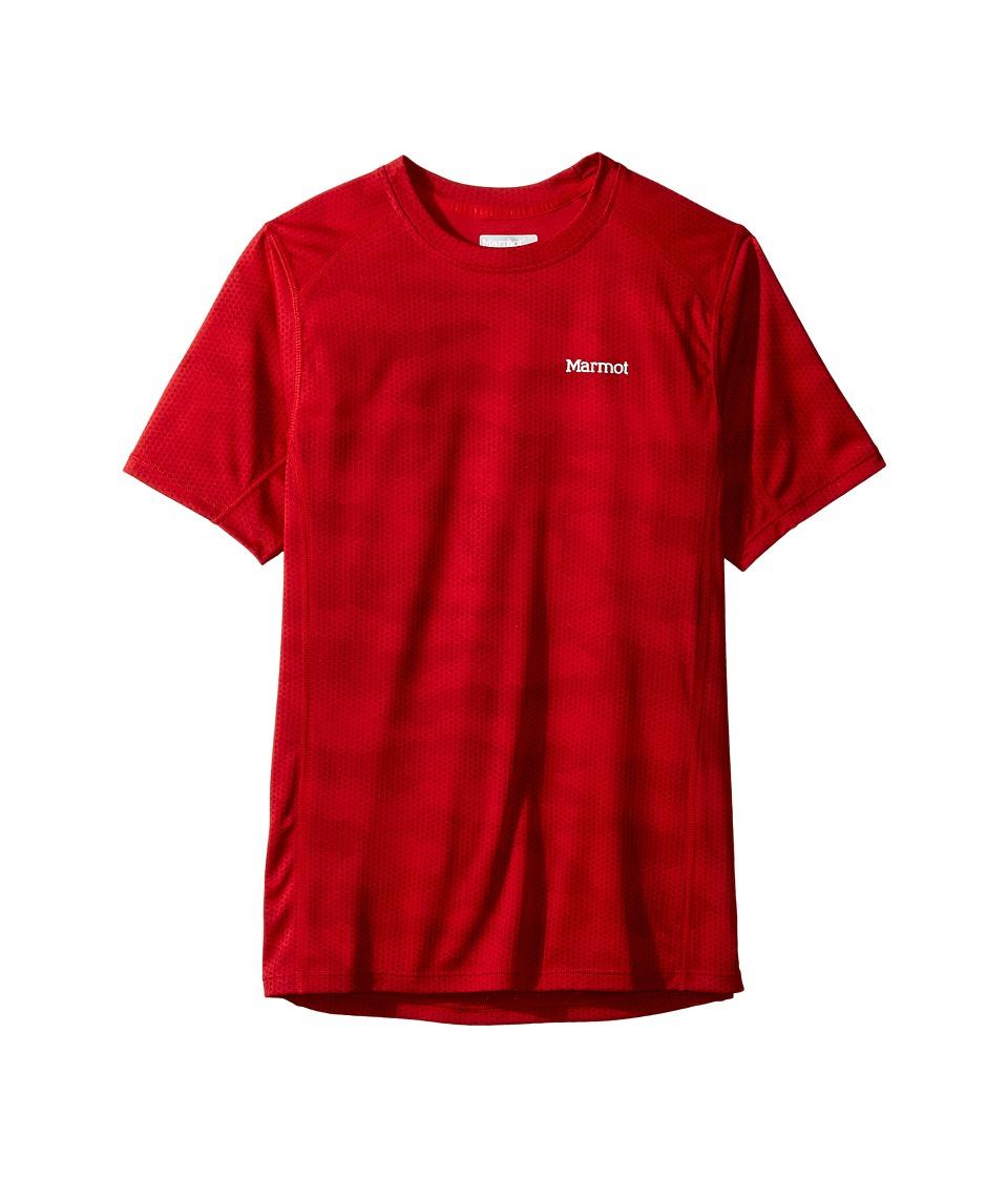 Marmot Kids - Cyclone Short Sleeve Shirt (Little Kids/Big Kids) (Team Red Hide) Boy's T Shirt