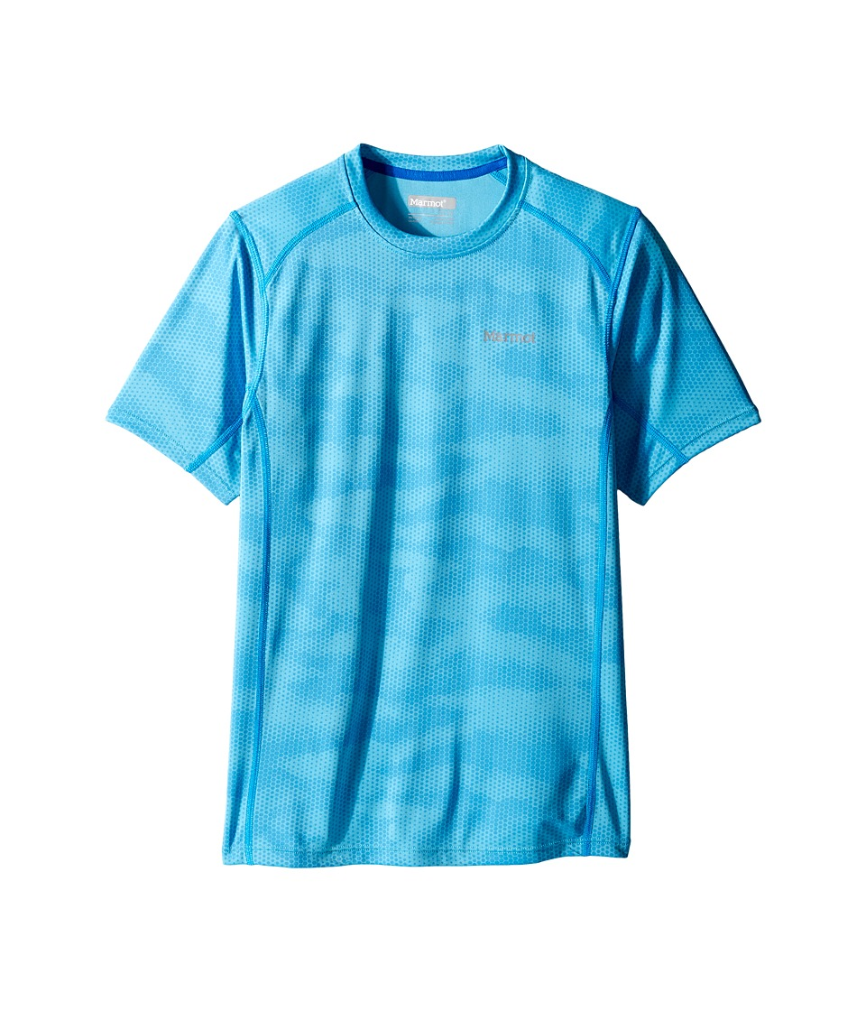 Marmot Kids - Cyclone Short Sleeve Shirt (Little Kids/Big Kids) (Paradise Hide) Boy's T Shirt