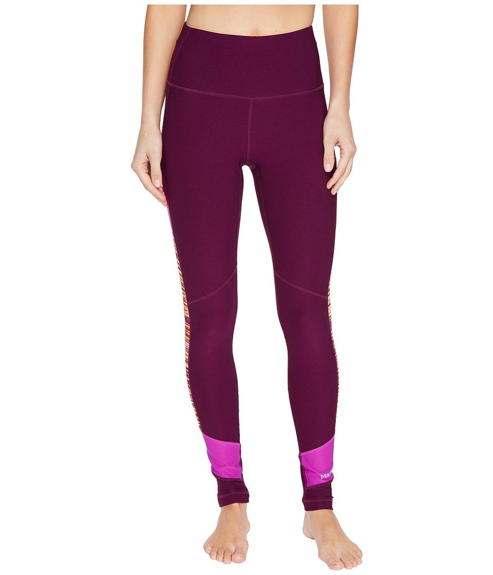 Marmot - Adrenaline Tights (Deep Plum/Neon Berry) Women's Casual Pants