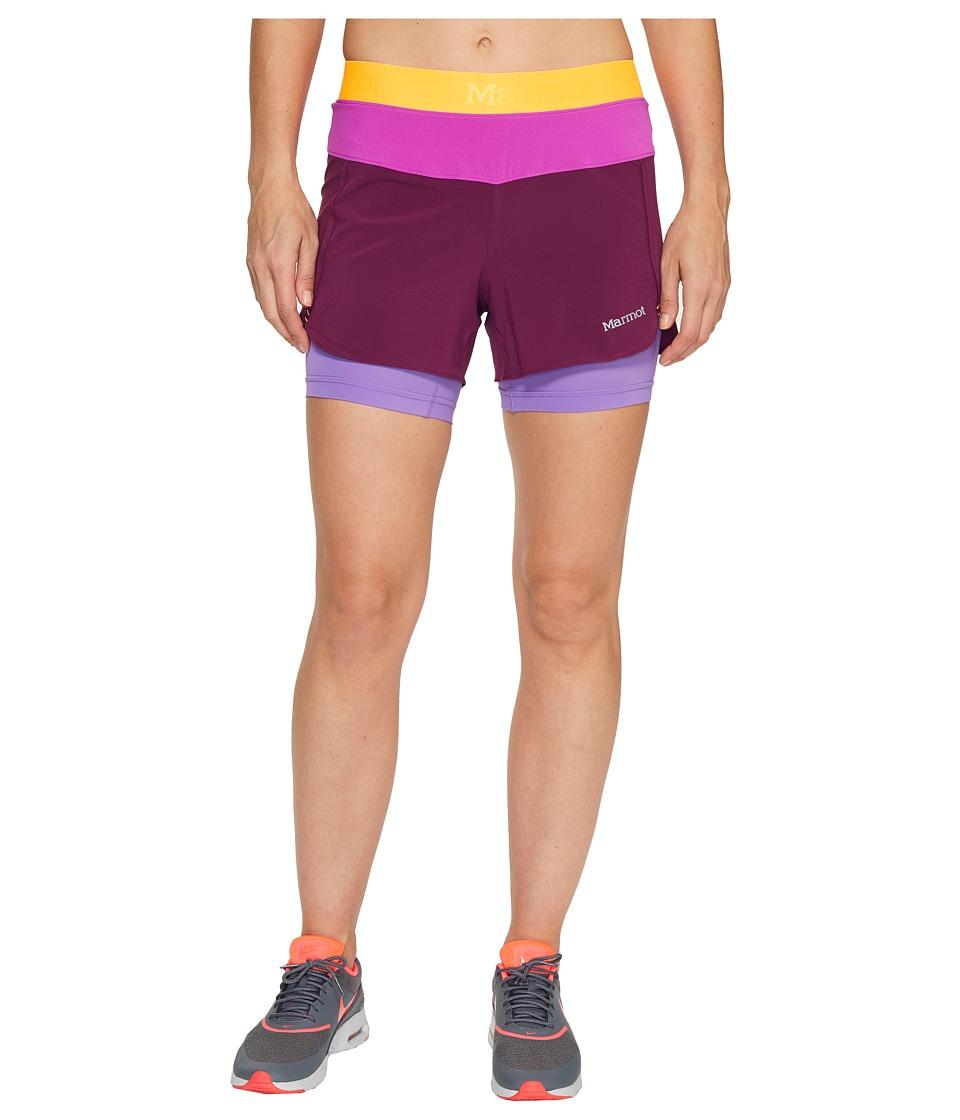 Marmot - Pulse Short (Deep Plum/Neon Berry) Women's Shorts