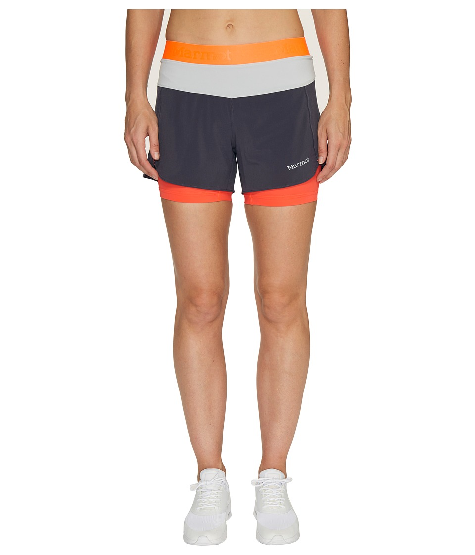 Marmot - Pulse Short (Dark Charcoal/Bright Steel) Women's Shorts