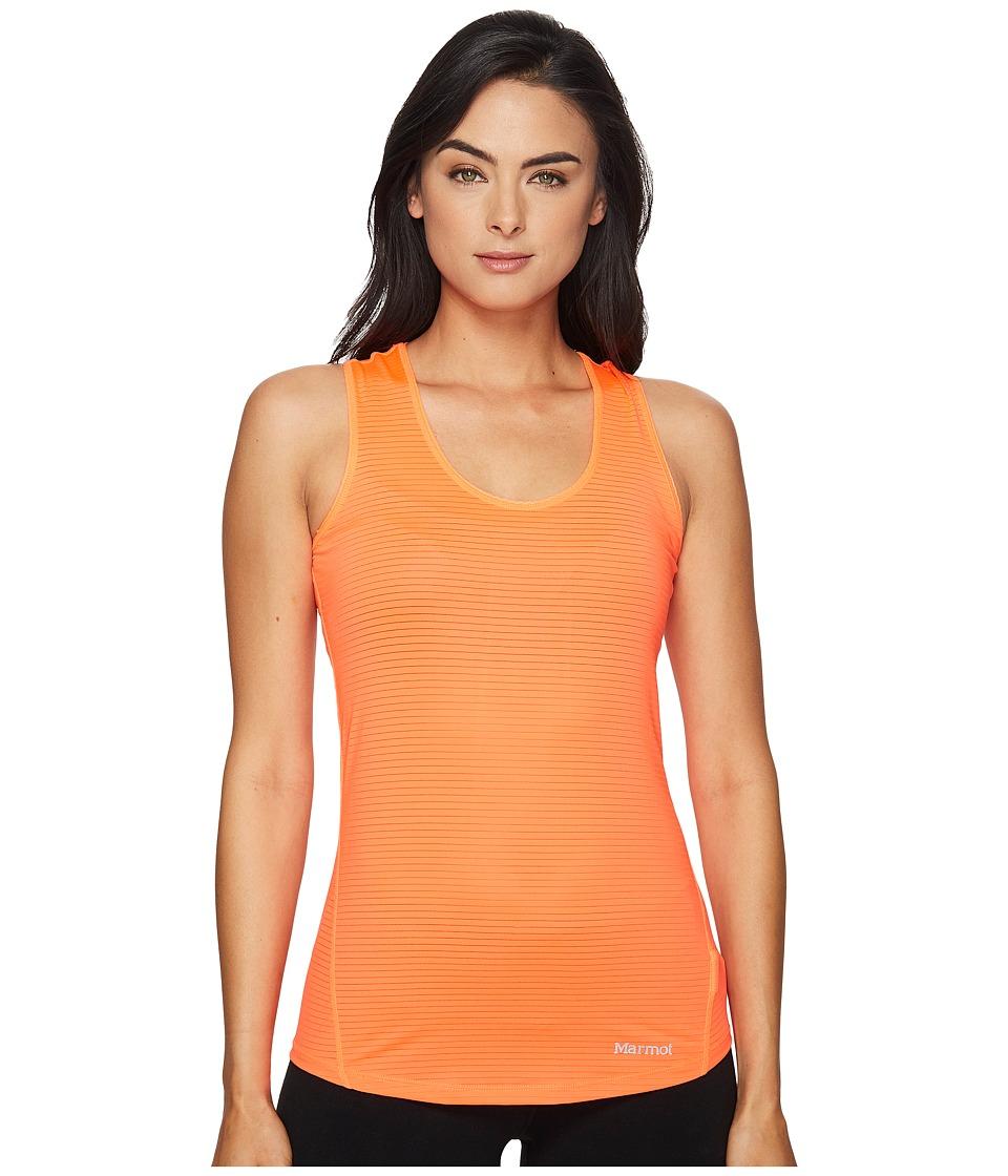 Marmot - Aero Tank Top (Neon Coral) Women's Sleeveless