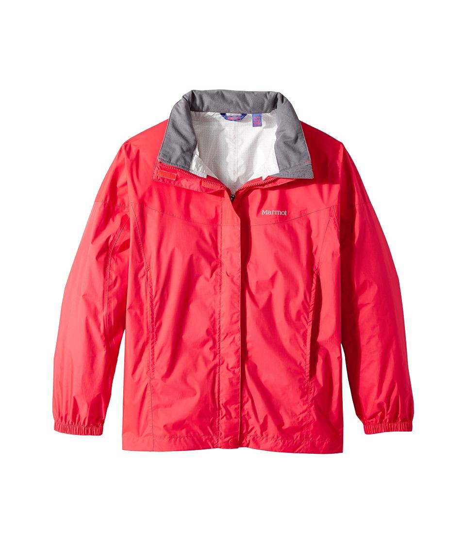 Marmot Kids - Girl's PreCip Jacket (Little Kids/Big Kids) (Bright Pink) Girl's Coat