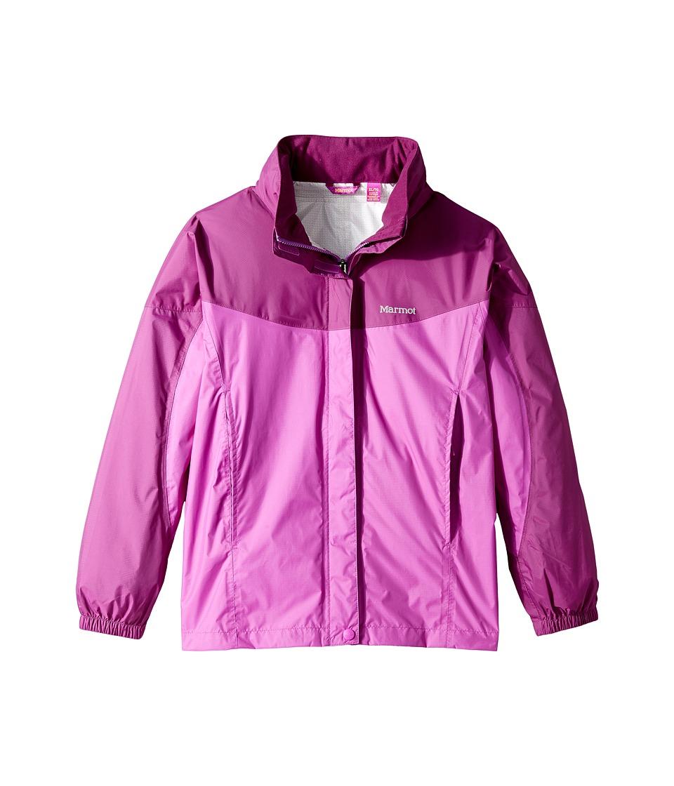Marmot Kids - Girl's PreCip Jacket (Little Kids/Big Kids) (Neon Berry/Grape) Girl's Coat