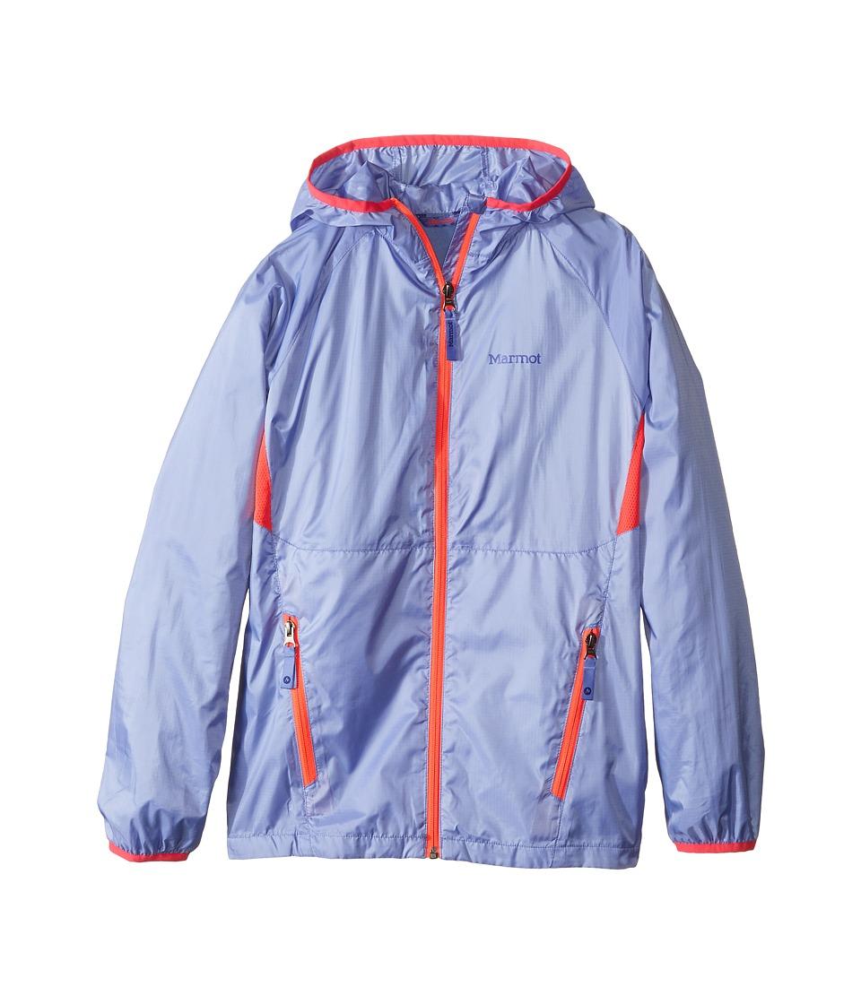 Marmot Kids - Ether Hoody (Little Kids/Big Kids) (Periwinkle/Bright Pink) Girl's Sweatshirt
